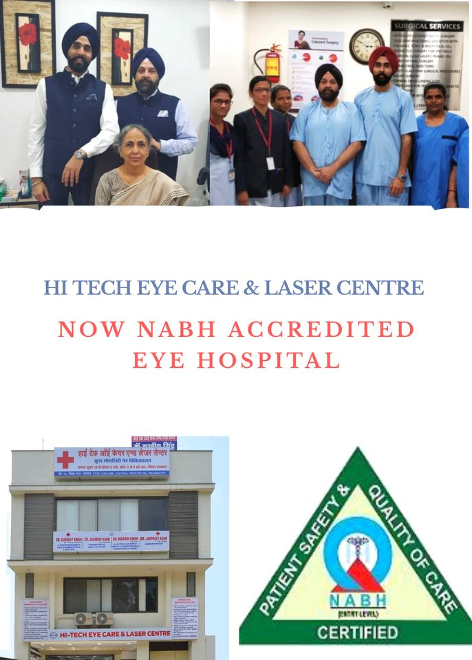 Hitech eye care & laser Center now NABH Accredited eye Hospital
