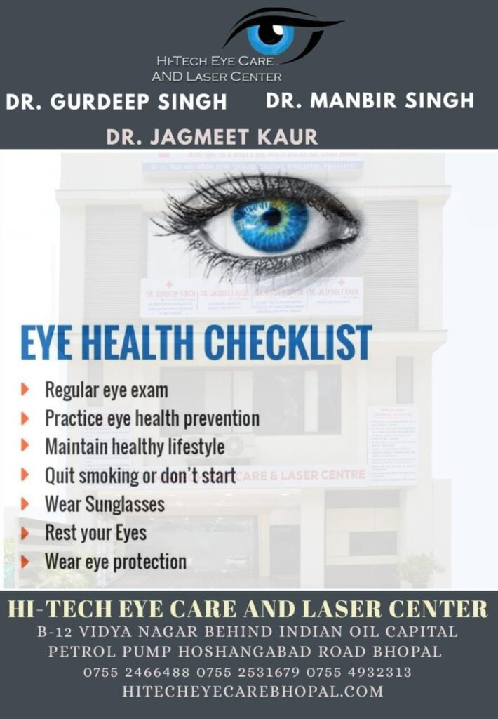 Checklist for better vision and eye health – Hi-tech Eye Care and Laser Center Bhopal